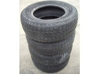 4, Used 255/65R16 4x4 Jeep Tyres 2-3mm of Tread Left