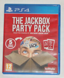SONY PLAYSTATION PS4 GAME THE JACKBOX PARTY PACK 5 GREAT GAMES PHONE & TABLET.**
