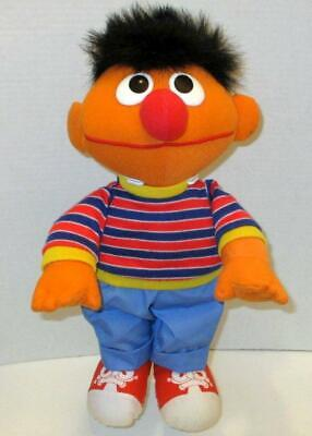"VINTAGE 1995 TYCO CUDDLE ERNIE 15"" SESAME STREET SOFT STUFFED PLUSH DOLL TOY"