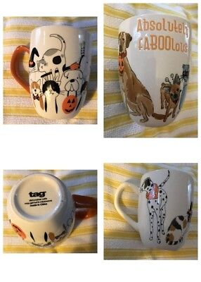 TAG 2 Halloween Cat & Dog Absolutely Fabulous Mugs NEW Pet Halloween Costumes
