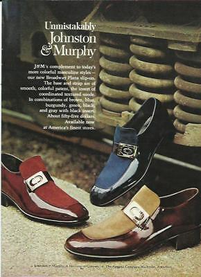 1970s Johnston & Murphy Shoes 1973 Fashion Mens Photo Vintage Print Ad Decor