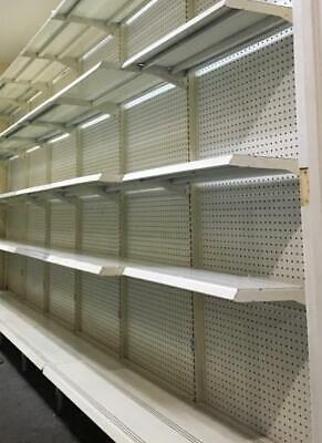Gondola Shelving Lot 12 Wall Units Metal Shelves Used Grocery Store Fixtures