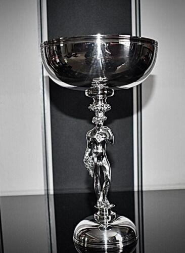 Christofle France Bacchus Centrepiece, Silver Plated Grape Comport, Signed C1900