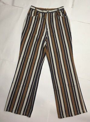 Vintage 1960s Striped pants Hippie pants Beeline fashions vintage pants