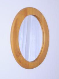 Pine Framed Oval MIrror