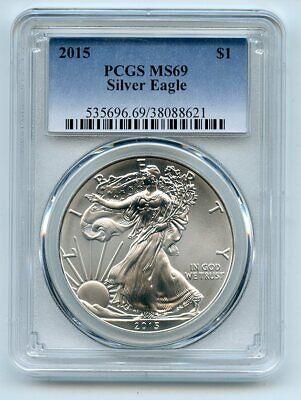 2015 $1 American Silver Eagle Dollar 1oz PCGS MS69