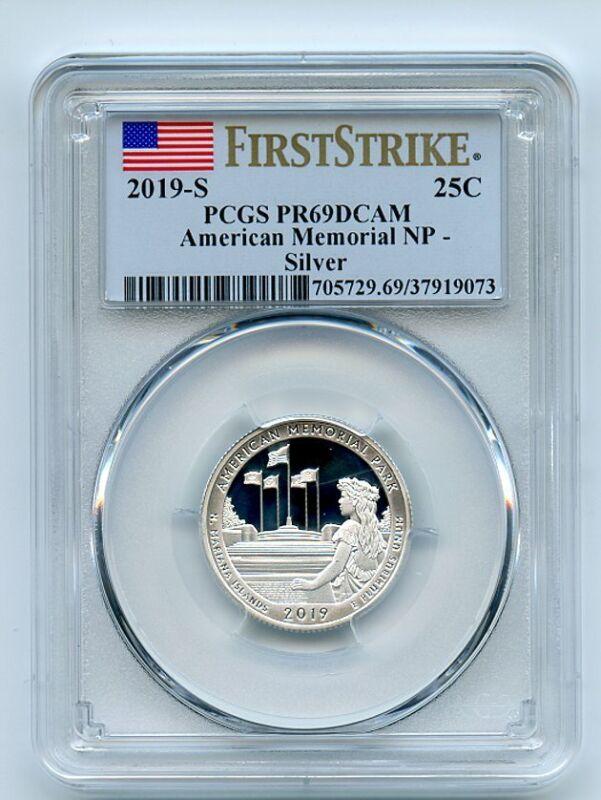 2019 S 25C Silver American Memorial Quarter PCGS PR69DCAM First Strike