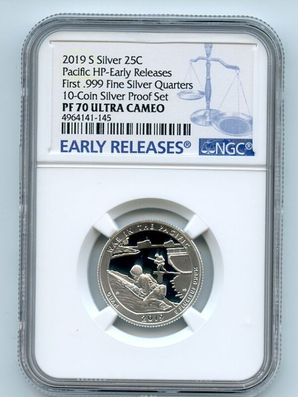 2019 S 25C Silver War In the Pacific Quarter NGC PF70UCAM Early Releases