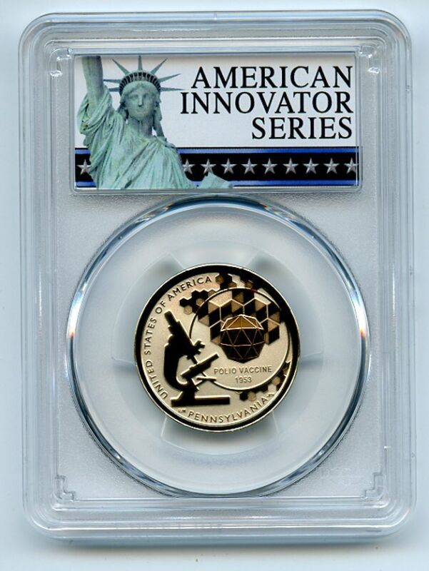 2019 S $1 American Innovation Dollar Reverse Proof PA Polio PCGS PR69 FS Exclusi