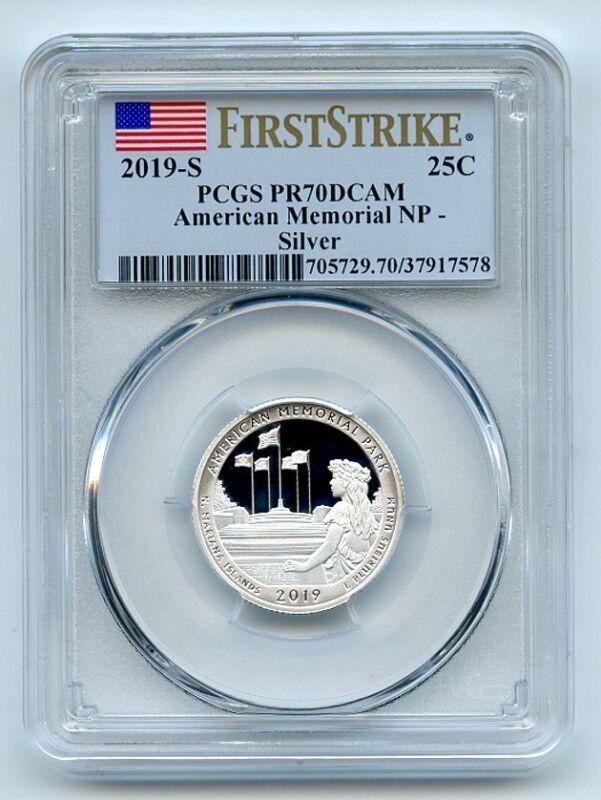 2019 S 25C Silver American Memorial Quarter PCGS PR70DCAM First Strike