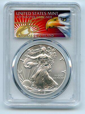 2019 $1 American Silver Eagle 1oz PCGS MS70 FS 1 of 1000 Thomas Cleveland Eagle