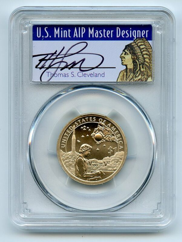 2019 P $1 Sacagawea Dollar Coin Currency Pos A PCGS SP70 Thomas Cleveland Native