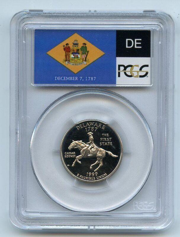 1999 S 25C Clad Delaware Quarter PCGS PR69DCAM
