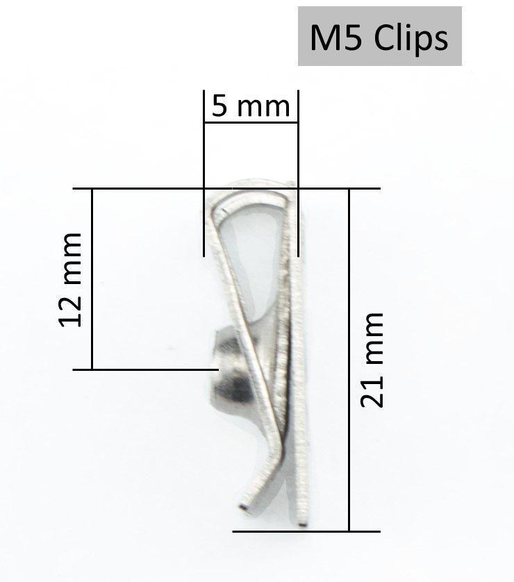 30 BLECHMUTTERN VERKLEIDUNGSCLIPS CLIP SCHNAPPMUTTER M4 M5 M6 METRISCHE GEWINDE