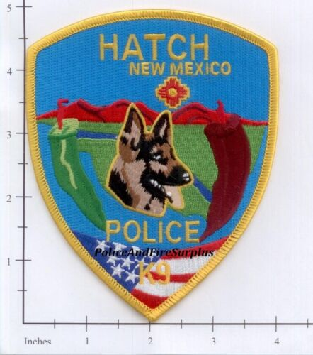 New Mexico - Hatch NM K-9 Police Dept Patch