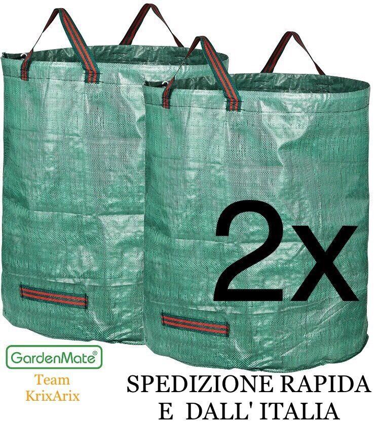 GardenMate® 2 sacchi per i rifiuti da giardino 2x 272Lt Litri, SPEDIZIONE RAPIDA