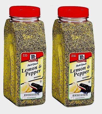 TWO McCormick Lemon & Pepper Seasoning 28 oz each total 56 Oz - Mccormick Lemon Pepper