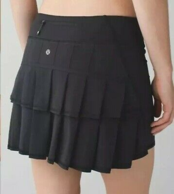 NICE🍀Lululemon 6 Tall Run Pace Setter skirt - Black