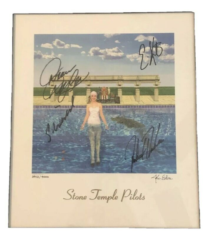 STP Stone Temple Pilots Signed Lithograph Weiland Deleo
