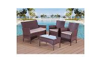 BRAND NEW IN BOX Rattan garden furniture set