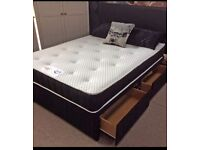 💛💛SPECIAL OFFER*💛💛NEW DOUBLE DIVAN BED BASE INCLUDING MATTRESS (Headboard Optional)