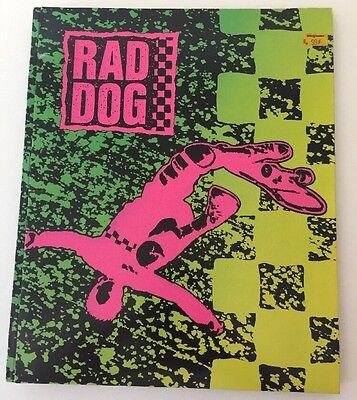 Collector's 1980's RAD DOG Skateboarding Folder Mead Pockets & Prongs Portfolio