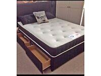 BRAND NEW DOUBLE DIVAN BED + DEEP QUILT MATTRESS & HEADBOARD /DRAWERS OPTION