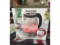 Colour Changing Glass Kettle (Brand New)