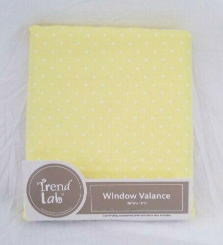 "Trend Lab Yellow Window Valance 56"" x 15"" NIP"
