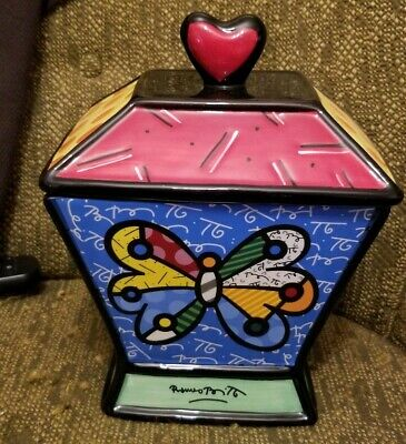 ROMERO BRITTO BRITTO CANISTER / COOKIE JAR - BUTTERFLY