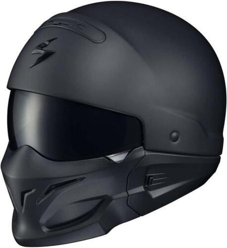 ScorpionExo Covert Unisex-Adult Half-Size-Style Matte Black Helmet, X-Small