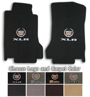 Lloyd Classic Loop Carpet Front Floor Mats for 2004-2009 Cadillac XLR with Logo