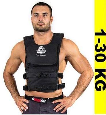 BUSHIDO Gewichtweste Trainingsweste Joggingweste Fitnessweste - Gürtel  1-30 kg