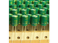 1000UF 16V SANYO RADIAL ELECTROLYTIC CAPACITORS.10X16MM.WG. 10PCS