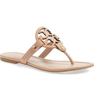 New Tory Burch Miller Flip Flop Make Up Leather Us Womens Size 7 5M