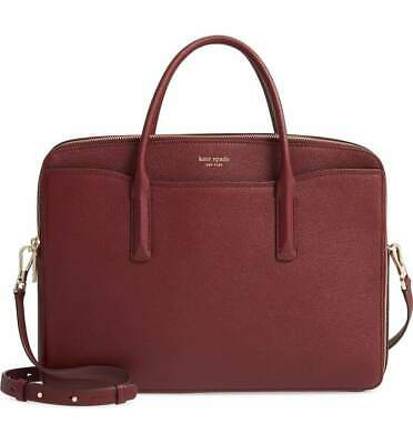 Kate Spade Margaux Leather Universal 15in Laptop Crossbody Computer Bag