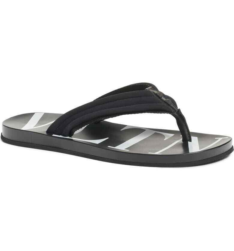 low cost huge discount fast delivery Details about Valentino Garavani Thongs Flip Flops Size 45 EU / US 12 Black  RY2S0B56 Sandals