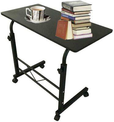 Office Laptop Desk Rolling Adjustable Portable Table Computer Mobile Stand Black