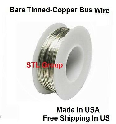 20 Awg Solid Bare Tinned-copper Bus Wire 14 Lb 78 Ft Spool