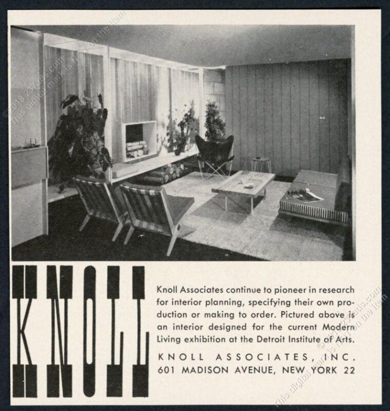 1949 Knoll Associates modern furniture photo vintage print ad
