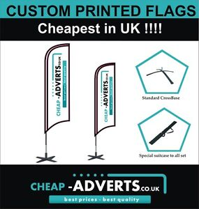 Outdoor Advertising Flags/Promotional Feather Flags - 2.4m - Free Artwork