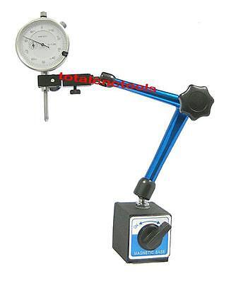 Magnetic Base Dial Indicator 1 Travel 0.001 New Fine Adjustment