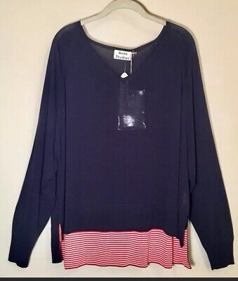 Acne Studios Navy V Neck Sweater NWT