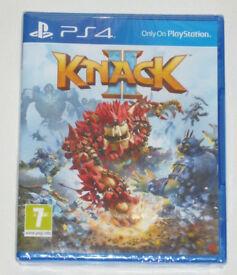 SONY PLAYSTATION PS4 GAME THE KNACK 2 PAL 12 DOLBY DIGITAL HD GEM MAN II SEALED.