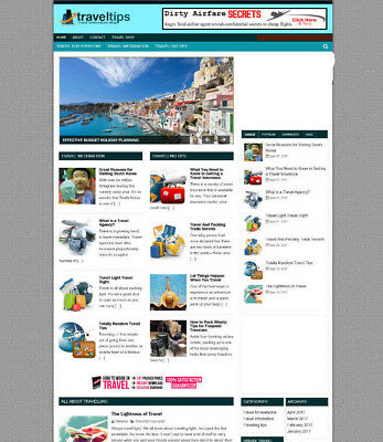 Travel Blog Website With Affiliates New Free Domain Full Installation