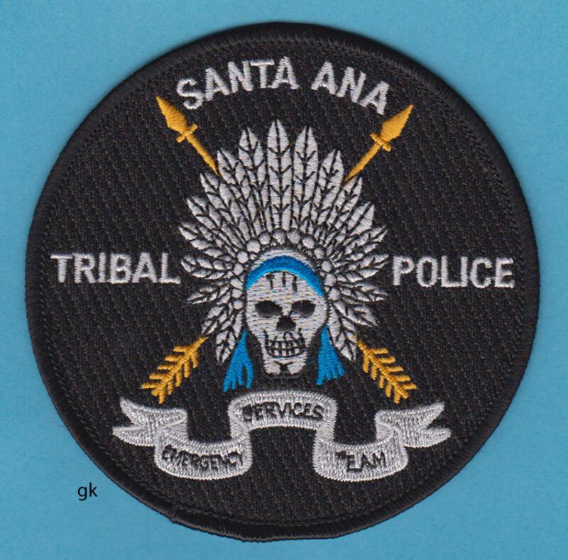 SANTA ANA NEW MEXICO TRIBAL SKULL POLICE SHOULDER PATCH