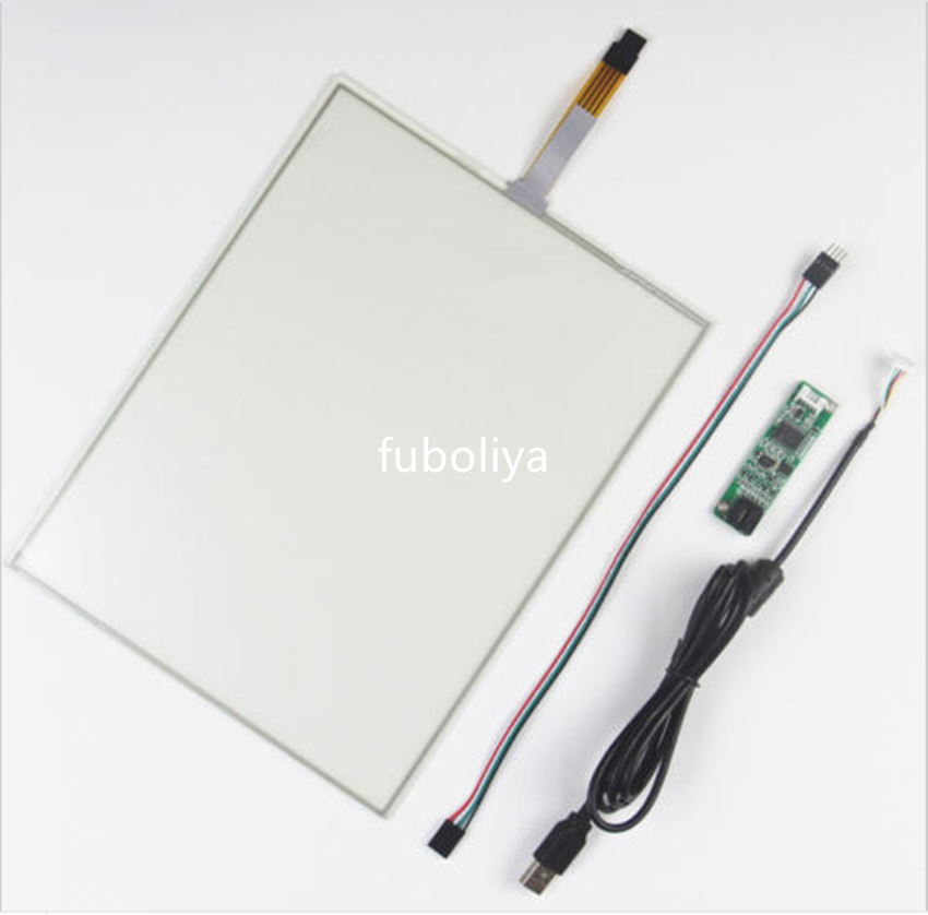 12.1inch 260x200mm 4Wire Resistive Touch Screen Panel USB kit for monitor F8