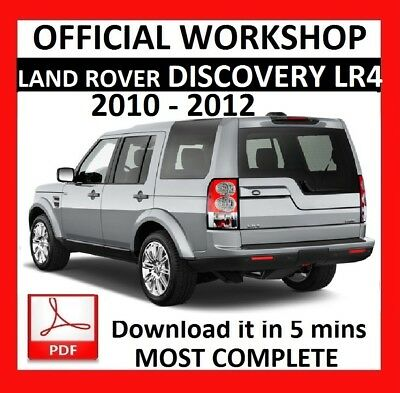 OFFICIAL WORKSHOP Manual Service Repair LAND ROVER DISCOVERY LR4 2010 - 2012