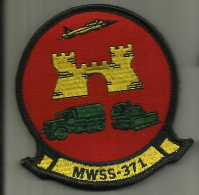 MWSS 371 USMC PATCH +HOOK BACKING MARINE WING SUPPORT SQDN FIGHTERJET HELICOPTER