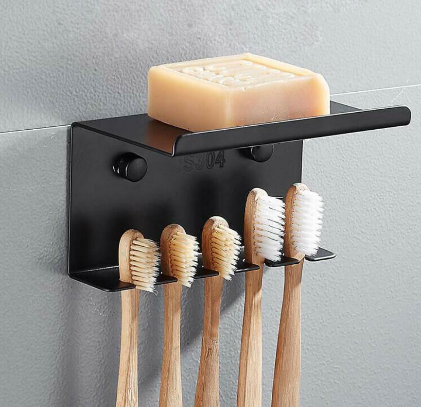Home Garden Wall Mounted Hanger Sus304 Bathroom Toothbrush Holder Soap Dish Storage Shelf Toothbrush Holders New Ikejacitymall Com Ng